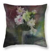 Mystical Flowers Throw Pillow