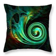 Mystical Spiral Throw Pillow