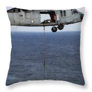 N Mh-60s Sea Hawk En Route Throw Pillow