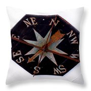 N S E W Throw Pillow