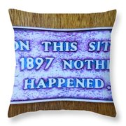 Nada Throw Pillow