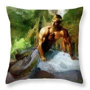 Naga - King Cobra Throw Pillow