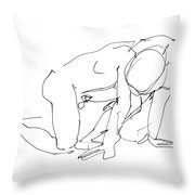 Naked-man-art-18 Throw Pillow