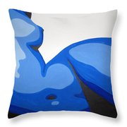 Naked Woman Throw Pillow