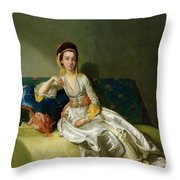 Nancy Parsons In Turkish Dress Throw Pillow