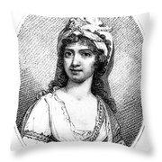 Nancy Storace (1765-1817) Throw Pillow