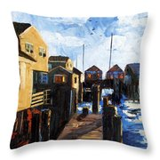 Nantucket Throw Pillow by Anthony Falbo