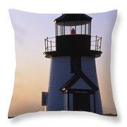 Nantucket Brant Point Lighthouse Throw Pillow