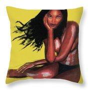 Naomi Campbell Throw Pillow