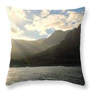Napali Coast Sunrise Throw Pillow