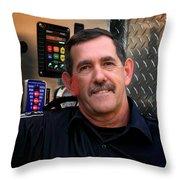 Napanee Fireman Throw Pillow