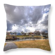 Napanee Harbour Or Free Docking With Hydro - Transients Only Throw Pillow