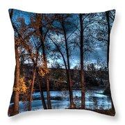 Napanee River At Dawn Throw Pillow