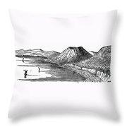 Naples: Monte Nuovo, 1887 Throw Pillow