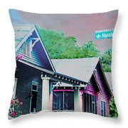 Napoleon Street Beauregard Baton Rouge Throw Pillow