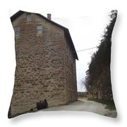 Narrow Dirt Road Throw Pillow