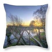 Narrow Iron Bridge Throw Pillow