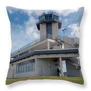 Nasa Air Traffic Control Tower Throw Pillow by Nasa