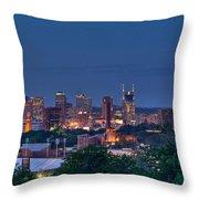 Nashville Cityscape 7 Throw Pillow