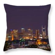 Nashville Cityscape 9 Throw Pillow