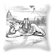 Nast: Blaine Cartoon, 1884 Throw Pillow