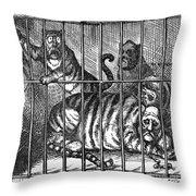 Nast: Tweed Cartoon, 1871 Throw Pillow