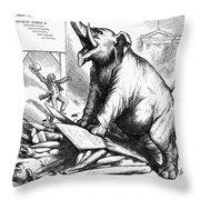 Nast: Tweed Cartoon, 1875 Throw Pillow