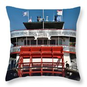 Natchez Riverboat Throw Pillow
