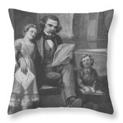 Nathaniel Hawthorne, American Author Throw Pillow
