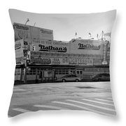 Nathan's Original In Black And White Throw Pillow