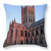 National Cathedral At Sunset Throw Pillow