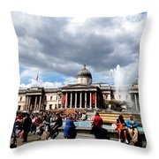 National Gallery At Trafalgar Square Throw Pillow