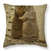 National Zoo 2 Prarie Dogs Sitting Throw Pillow