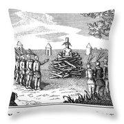 Native American Punishment Throw Pillow