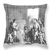 Native Americans: Divorce Ceremony Throw Pillow