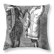 Native Americans: Flatheads Throw Pillow