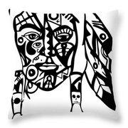 Native Man Throw Pillow