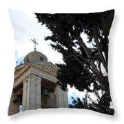 Nativity Church Tree Throw Pillow