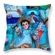 Nativity Scene Figures Throw Pillow