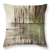 Natural Abstract 2 Throw Pillow
