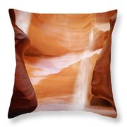 Natural Beauty At Its Finest - Antelope Canyon Arizona Throw Pillow by Christine Till