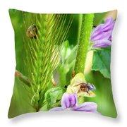 Natural Bouquet Throw Pillow