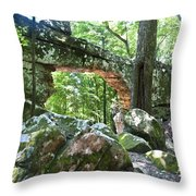 Natural Bridge Throw Pillow