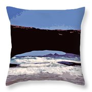 Natural Stone Bridge - Aruba Throw Pillow