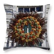 Natural Wreath Throw Pillow