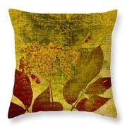 Nature At Work Throw Pillow