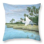 Nature Coast Throw Pillow by Kevin Brant