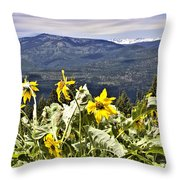 Nature Dance Throw Pillow by Janie Johnson