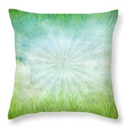 Nature Grunge Paper Throw Pillow