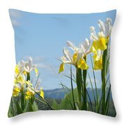 Nature Photography Irises Art Prints Throw Pillow